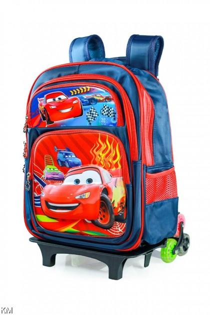 3D Cartoon 6-Wheel Trolley School Bag [BG16065]