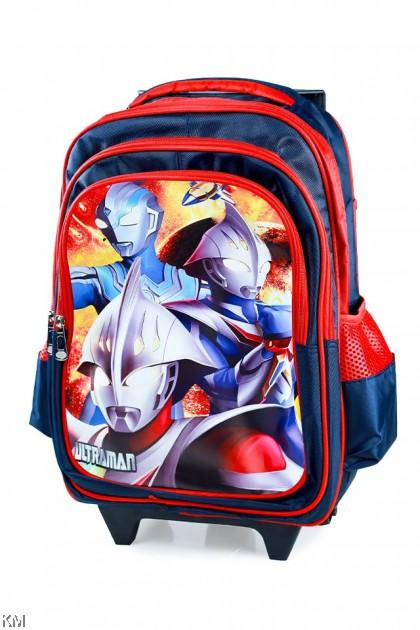Tri-Wheel Cartoon Boy Trolley School Bag  [BG23945-B]