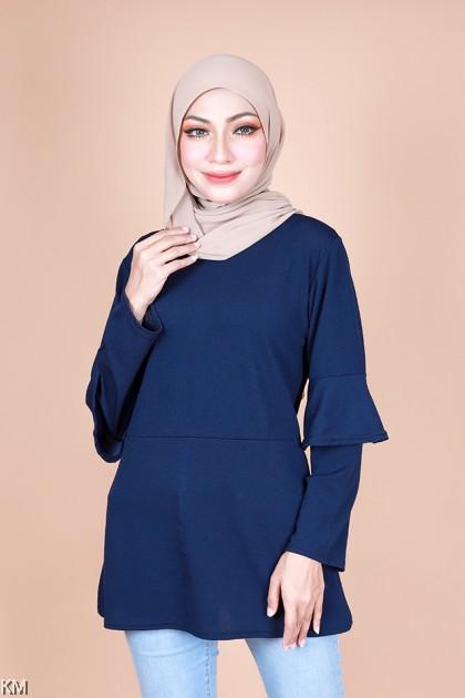 Fisyah Dual Sleeves Basic Blouse [B25385]
