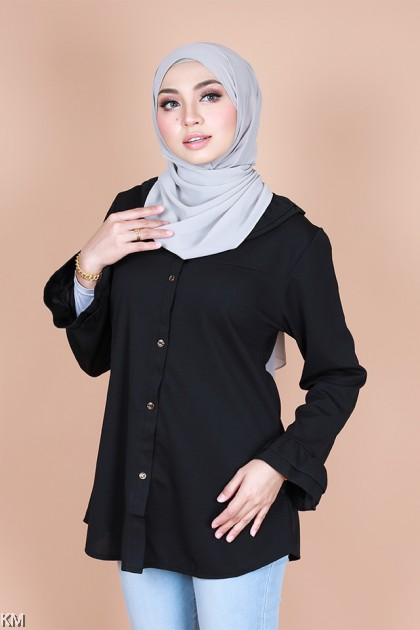 Aisha Ruffle Sleeve Button Blouse [B24044]
