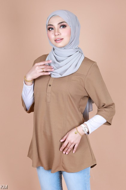 Irdina 3/4 Sleeve Button Blouse [B10325]