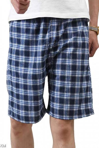 Unisex M-XL Checkered Short Pants [P25574]