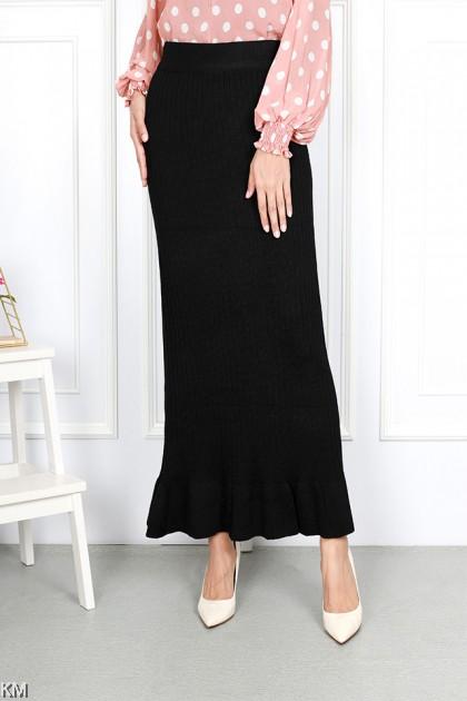 Winter knitted Ruffle Duyung Skirt [S26566]