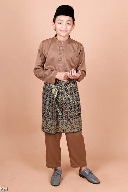 Kids Raahil Size 24-32 Zipper Morden Baju Melayu Kurta Set [M33781]