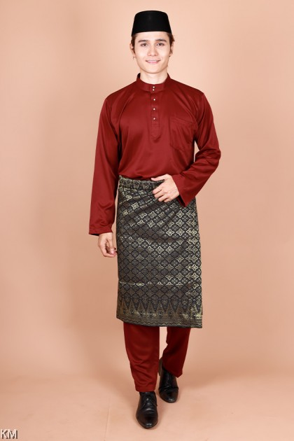 Adult Raahil Size S-XL Zipper Morden Baju Melayu Kurta Set [M33790]