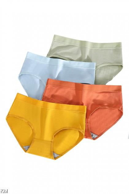 Graphene Antibacterial Solid Panties [L34631]