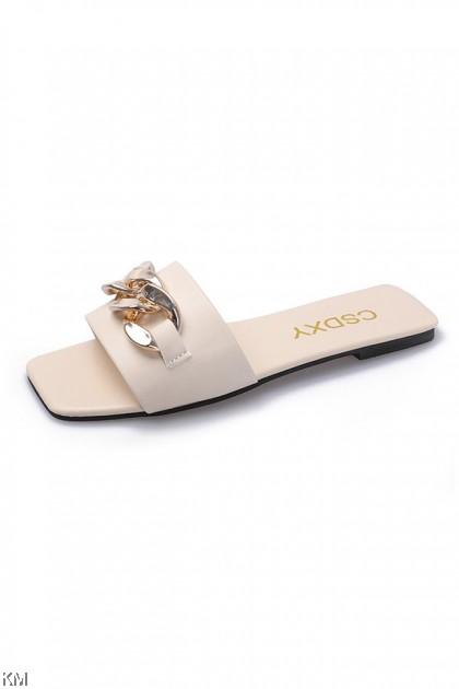 Chain Flat Sandals [SH34391]