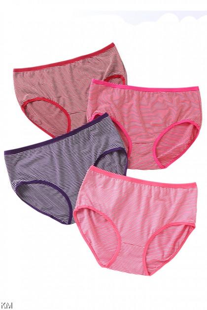 Lily Stripe 3 In 1 Pack Panties [L34024]