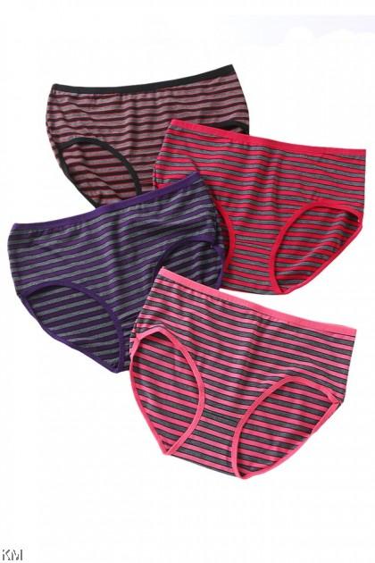 Abby Stripe 3 In 1 Pack Panties [L34021]