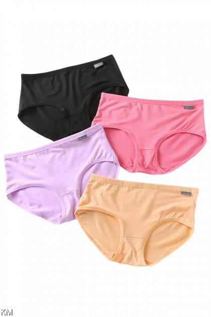 Helen Solid Colors 3 In 1 Pack Panties [L34035]