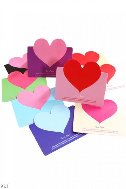 Love Shape Greeting Card Gift [2498]