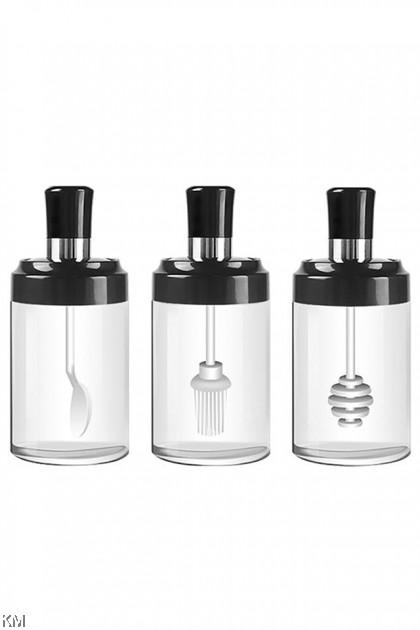 Seasoning Jar Bottle With Spoon [2438] [2439] [2441]