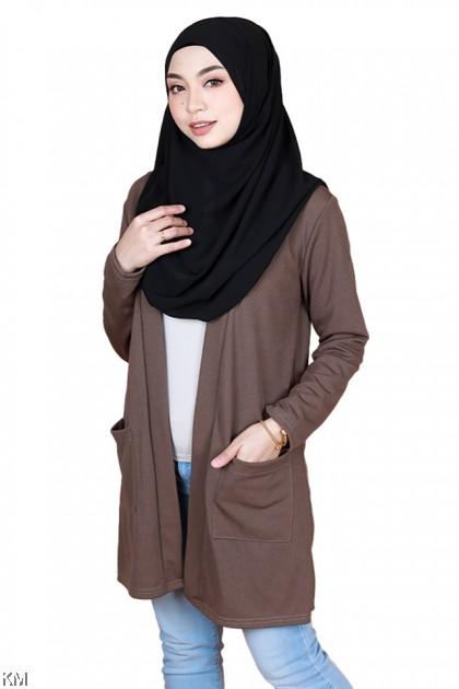 Korean Style Long Cardigan [T34828]